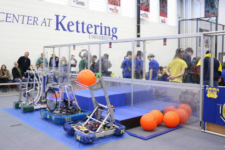 Kettering University hosted the first ever collegiate FIRST Robotics competition on Sunday, Jan. 20, 2019.