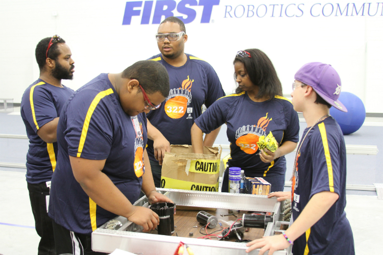 The FIRST Robotics Center at Kettering is home to eight teams, including Flint Community Schools' team—the Flint Fire, team number 322, one of the oldest teams in the nation.