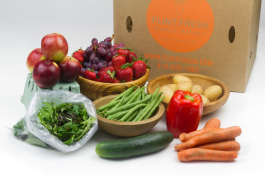 An example of a large farmer's pick box available for home delivery in Flint. Cost: $30.
