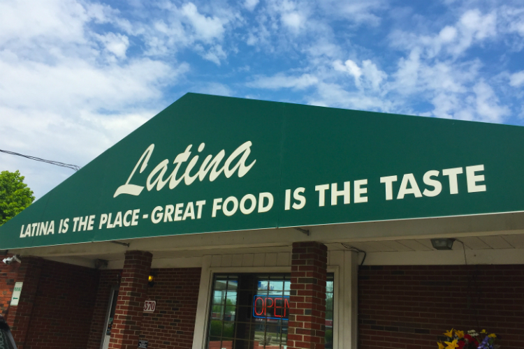 Latina's is located at 1370 W. Bristol Road.