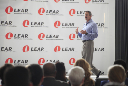 "Roy Scott, president and CEO of Lear, says Flint ""is part of who I am."""