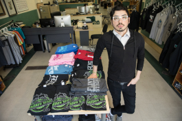 Marcus Bieth started as an employee when Flint City T-shirts opened in 2003 and worked his way up to co-owner three years ago.
