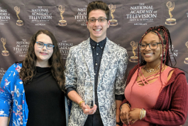 "Mott Community College students Elexis Burton of Davison, Julian York of Flushing, and Jovan Brown of Mount Morris won top honors for their film, ""The Sybil Atwood Awards."""