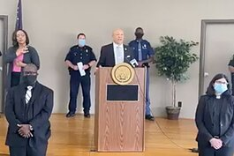 Mayor Sheldon Neeley discusses the city's new three-point plan to address gun violence in Flint.
