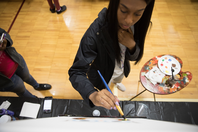 Paints, Chalices & Hues is a quickly expanding Flint-based painting party business started by Tamika Hicks because she didn't want to travel to have fun.
