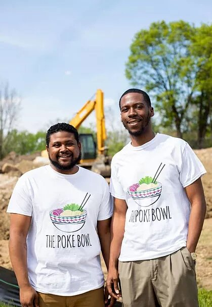 Brothers Justin Bush and Jeron Dotson are the owners and creators of Flint's Poke Bowl.