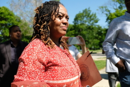 Carma Lewis will continue her work with Flint neighborhoods, now as a staff member in Rep. Dan Kildee's district office.