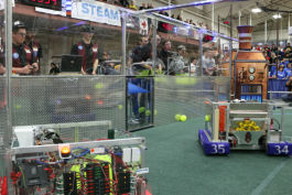 A look at one of the FIRST Robotics competitions hosted by Kettering University this year.