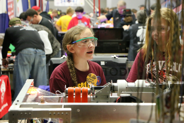 FIRST Robotics was created as a way to encourage young people to pursue careers in the STEM (science, technology, engineering, mathematics) fields by giving hands-on experience.