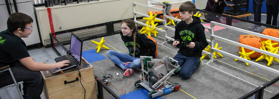 The robotics team at Carman-Ainsworth Middle School is preparing to go to the world championships this month.