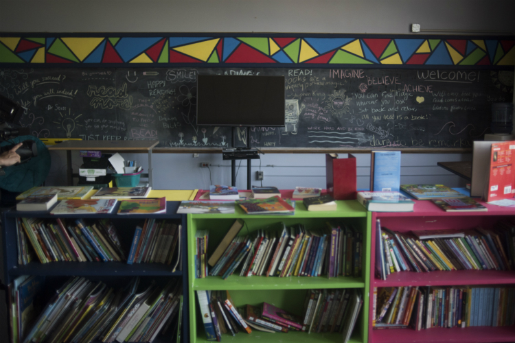 A classroom is shown in the Sylvester Broome Empowerment Village Friday, June 29, 2018 in Flint.