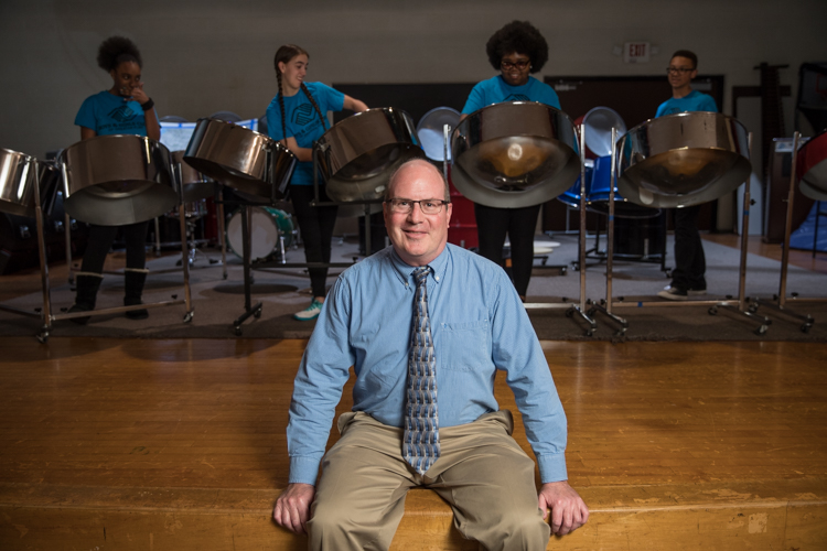 From the very beginning of the Boys and Girls Club's steel bands, James Coviak has been the band leader, director, mentor, and guide.