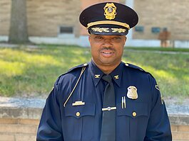 New city of Flint Chief of Police Terence Green took office in September.
