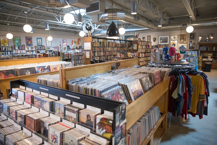 Used books and vinyl records are a specialty of Totem Books, an independent book store on 620 W. Court St. in Flint.