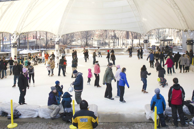 UM-Flint's ice rink was named one of 10 'outstanding outdoor rinks' by Pure Michigan.