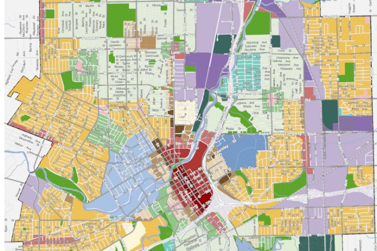 A look at a portion of the city of Flint's zoning map.